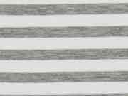 garngefärbter French Terry Streifen, grau meliert