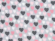 Baumwolle Herzen, grau