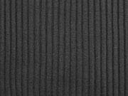 Bündchenstoff gerippt Hipster-Beanie Stoff, schwarz