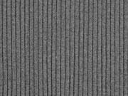 Rippenbündchen Rippenstrick, anthrazit melange