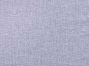 RESTSTÜCK 80 cm Chambray Baumwolle , dunkelblau meliert