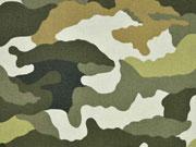 RESTSTÜCK 46 cm Canvas Camouflage Colors, grün