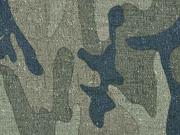 RESTSTÜCK 24 cm wasserabweisender Stoff Outdoor Camouflage, grün