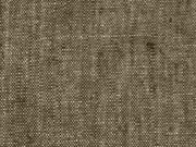 Leinen, uni dunkelkhaki (bräunlich)