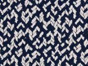 Jacquard Jersey Pfeilspitzen, dunkelblau ecrue