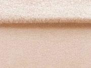 RESTSTÜCK 20 cm angerauter Sweat , nude