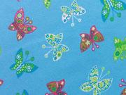 Jersey grosse Schmetterlinge, hellblau