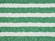 leichter Strick Blockstreifen, grün ecrue