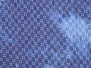 leichter Jeans Batikoptik Kreuzblume, jeansblau