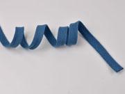 Flache Kordel Hoodiekordel Kapuzenband 15 mm, jeansblau