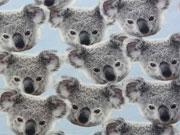 Jersey Digitaldruck Koalas - hellblau