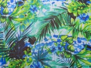 Chiffon Jungle Fever, grün/blau