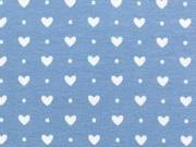 BW Herzen & Punkte - stahlblau