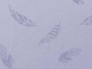 RESTSTÜCK 27 cm Jersey Federn, flieder