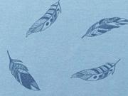 Jersey Federn, jeansblau