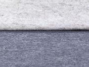 angerauter Sweat Melange - graublau