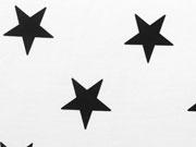 Jersey Sterne 5cm - schwarz auf weiß