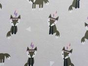 RESTSTÜCK 42 cm Jersey Indianer Fuchs, quarzsand