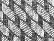 Strickstoff elastisch Doubleface Lace Rauten, anthrazit