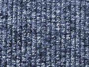 RESTSTÜCK 60 cm gerippter Strick mit leichten Fransen, blau