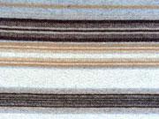 RESTSTÜCK 85 cm Wollstoff Peru, beige braun gestreift