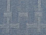 strukturierter Jacquard Jersey Kreuze, jeansblau