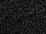 RESTSTÜCK 95 cm melierter Strick, schwarz