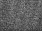 RESTSTÜCK 121 cm weicher Strickstoff Rippen, anthrazit