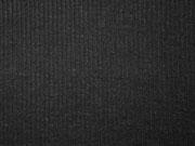weicher Strickstoff Rippen, schwarz