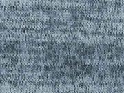 RESTSTÜCK 31 cm Melierter Strickstoff, eisblau