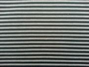 RESTSTÜCK 60cm Scuba Double-face Streifen grau/schwarz