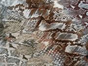 RESTSTÜCK 90cm Viskosejersey Schlangenlook, braun beige