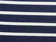 RESTSTÜCK 57 cm Viskose Jersey Streifen, navy / weiß