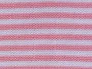 gestreiftes Bündchen - rosa/weiss