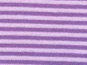 gestreiftes Bündchen - lila/flieder