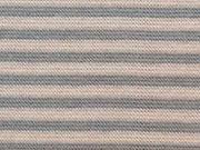 gestreiftes Bündchen - beige/grau