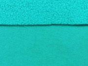 RESTSTÜCK 52 cm Jackenstoff Softshell, helles aquamarin