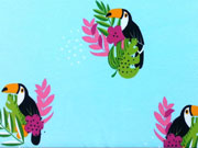 Jersey Tukan mit Blumen - helltürkis