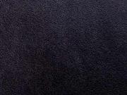 RESTSTÜCK 100cm elastisches Soft Touch Lederimitat Jersey, schwarz
