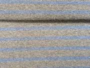 festerer French Terry Streifen grau/blau