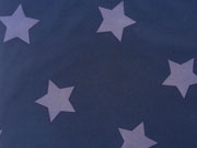 RESTSTÜCK 106 cm Softshell Jackenstoff Sterne dunkelblau jeansblau