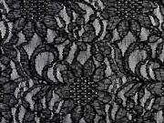 elastische Spitze Sonnenblume, grau/schwarz