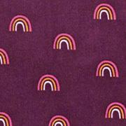 Feincord Stoff Regenbögen, lila