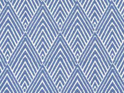 Bengalin Rauten, bleu / weiss