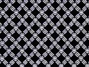elastsicher Hosenstoff Bengalin Gittermuster, schwarz weiss