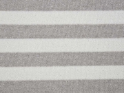 Glitzer Strickstoff Streifen 2 cm, taupe weiß