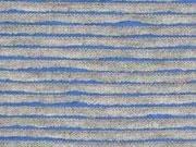 RESTSTÜCK 49 cm Jersey Lamellen, hellblau