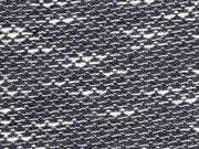 Jersey Schuppenstruktur meliert, grau ecrue