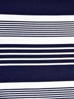 Viskose Rippenjersey Streifen, dunkelblau weiß