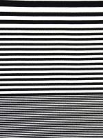 Viskose Rippenjersey Streifen, schwarz/weiß
